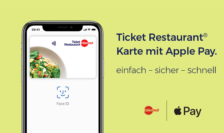Apple Pay Ticket Restaurant Karte Edenred
